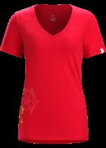 Snowside-V-Neck-T-Shirt-W-Flamenco